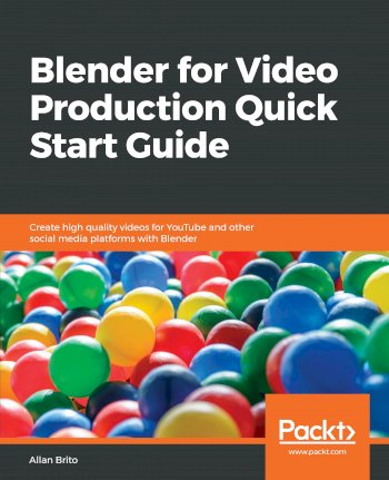 Book cover for Blender for Video Production Quick Start Guide:  Create high quality videos for YouTube and other social media platforms with Blender a book by Allan  Brito