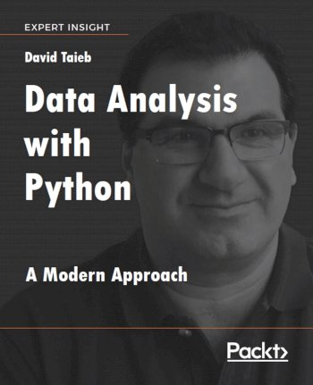 Book cover for Data Analysis with Python:  A Modern Approach a book by David  Taieb