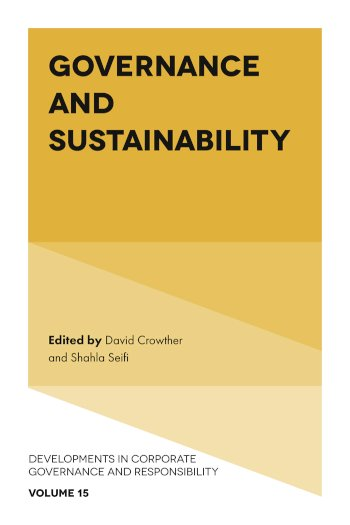 Book cover for Governance and Sustainability a book by David  Crowther, Shahla  Seifi