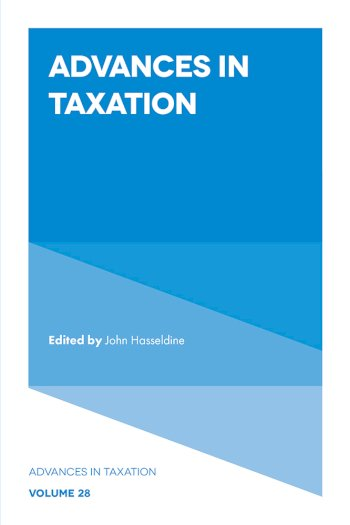 Book cover for Advances in Taxation a book by John  Hasseldine