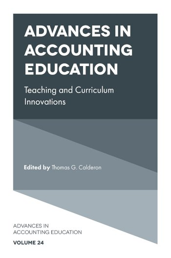 Book cover for Advances in Accounting Education, a book by Thomas G. Calderon