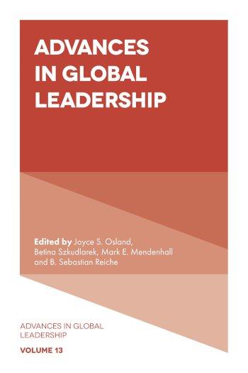 Book cover for Advances in Global Leadership a book by Joyce S. Osland, Mark E. Mendenhall, B. Sebastian Reiche, Betina  Szkudlarek