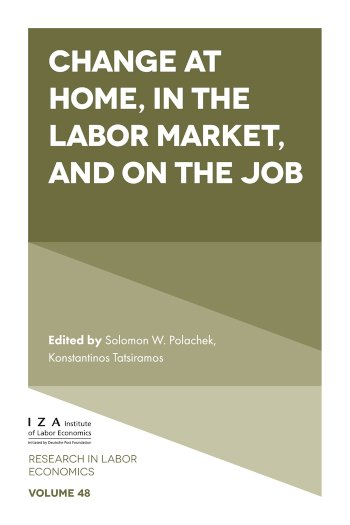 Book cover for Change at Home, in the Labor Market, and on the Job a book by Solomon W. Polachek, Konstantinos  Tatsiramos