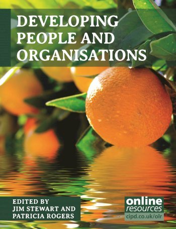 Book cover for Developing People and Organisations a book by Jim  Stewart, Pat  Rogers