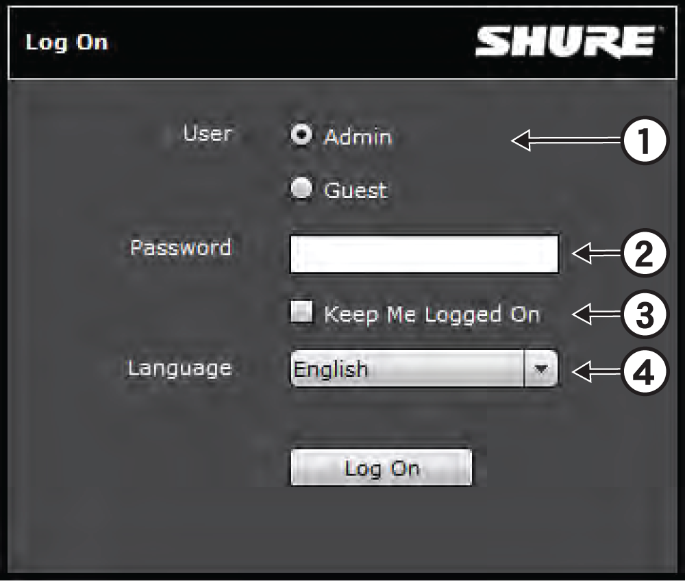 Shure Publications User Guides Scm820 Adjust The Level And Left Right Balance Controls To100 Max In