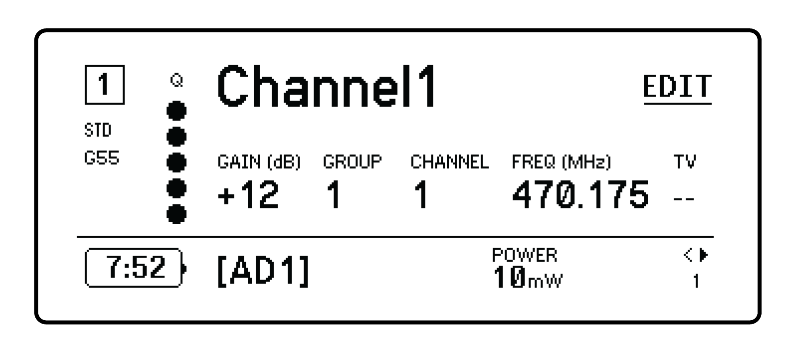 Shure Publications User Guides Ad4q Circuit Using A Visual Indicator Can Be Useful For An Rf You Adjust Gain Group Channel And Frequency By The Edit Function Button