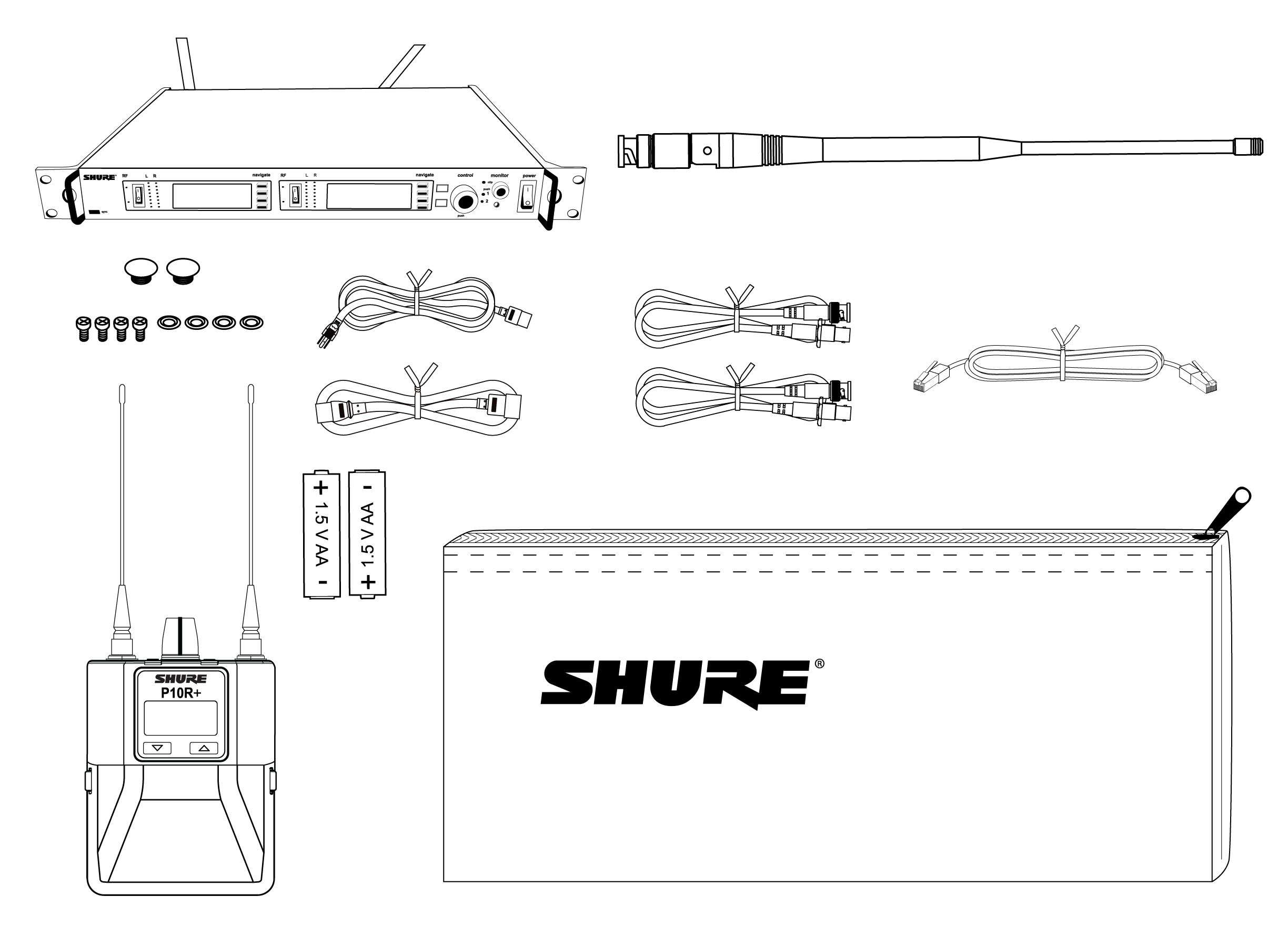 Shure Publications User Guides Psm1000 And The Antenna Transmitter Two Points Are In One Line 2 Hole Plugs 4 Rack Mounting Screws With Washers