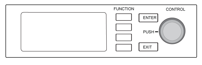 The buttons of the receiver