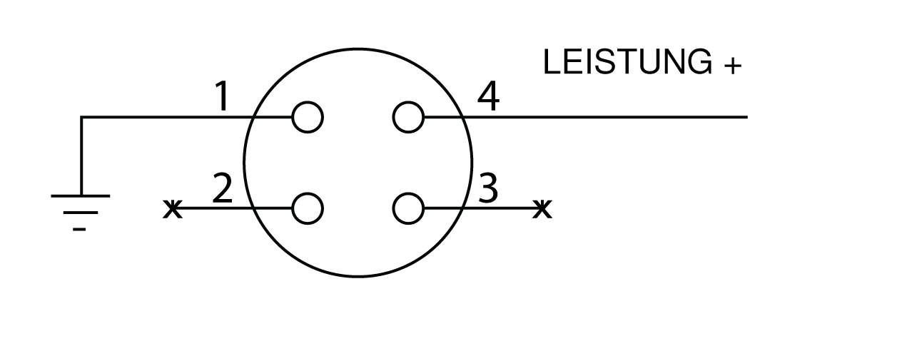Pinout diagram for Hirose connector.