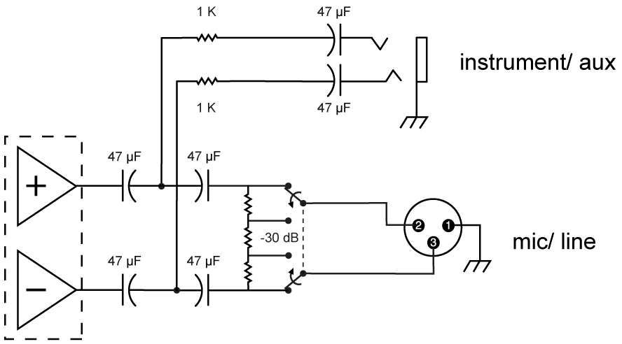 Circuit diagram of the receiver output.