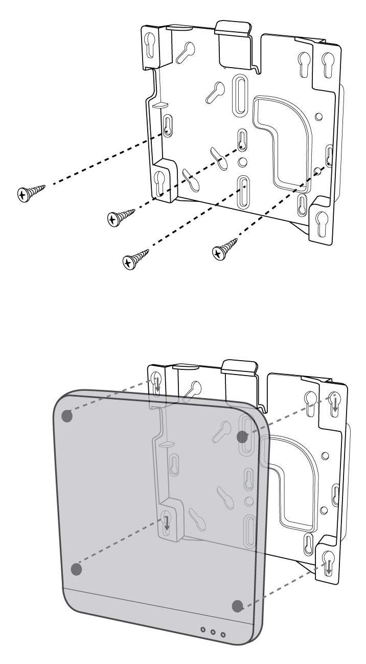 Shure Publications User Guides Mxw Windows Wiring Diagram Of 1957 58 General Motors All Models Position The Mxwapt Over Keyway Slots Mounting Plate And Slide It Down Into Locked