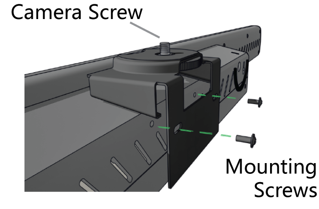 Diagram of attaching the Stem Wall camera mount accessory.