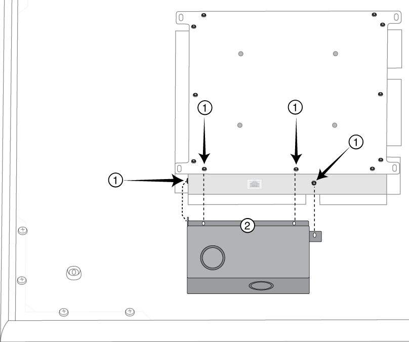 Diagram showing how to align and install A910-JB junction boxes on MXA910 ceiling array microphones.