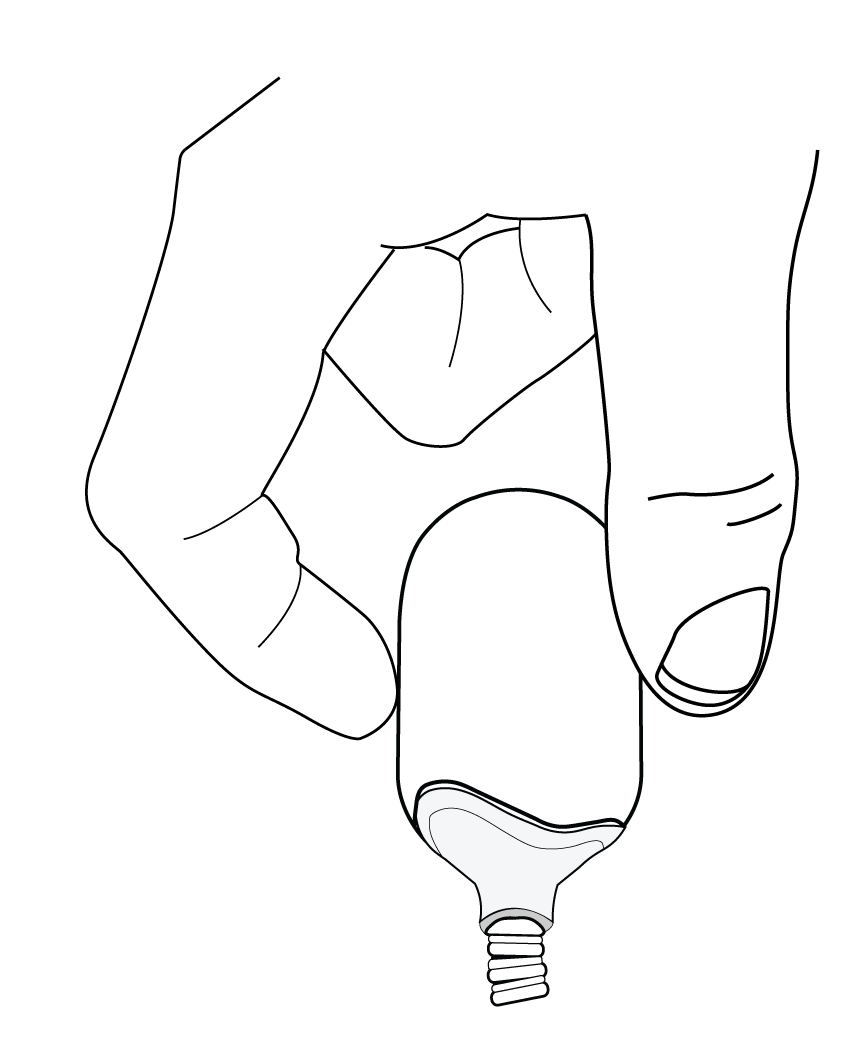 Illustration demonstrating how to remove microphone windscreen.