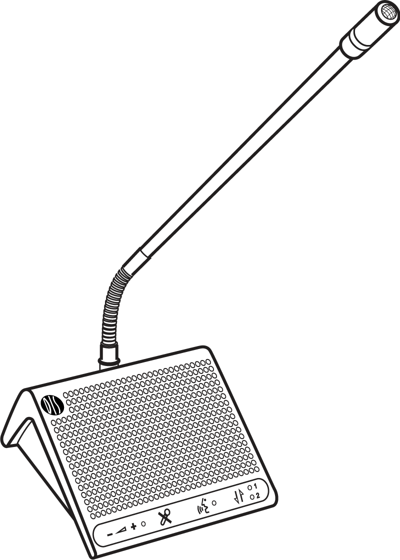 A drawing of the DC 5980 P surface-mount discussion unit