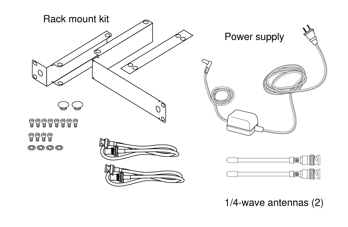 Shure Publications User Guides Blx4r 1 4 Output Jack Wiring Diagram Furnished Accessories