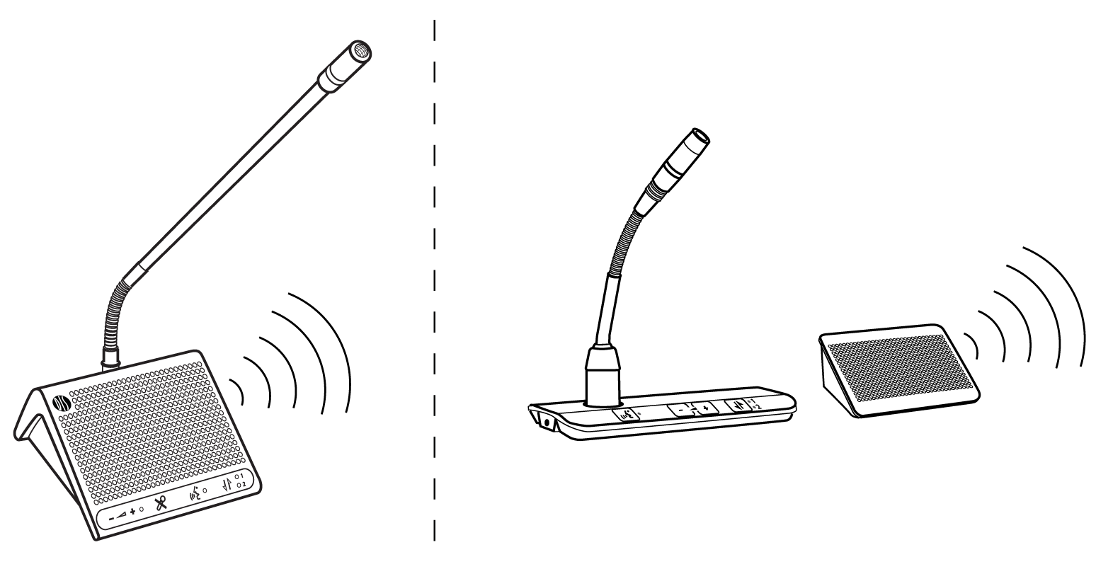 Shure Publications User Guides Dds 5900 The Followingsystem Diagram Illustrates A Typical Configuration Floor Mix On Loudspeakers