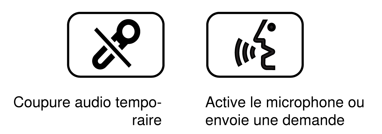 Image of the Mute and Speak button overlay