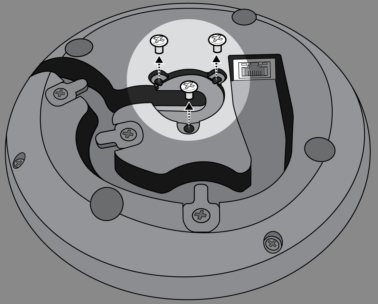 Shure Publications User Guides Mxa310 Wiring Diagram Further Multiple Recessed Lights Also Remove The 3 Screws Located In Center On Bottom Of Microphone