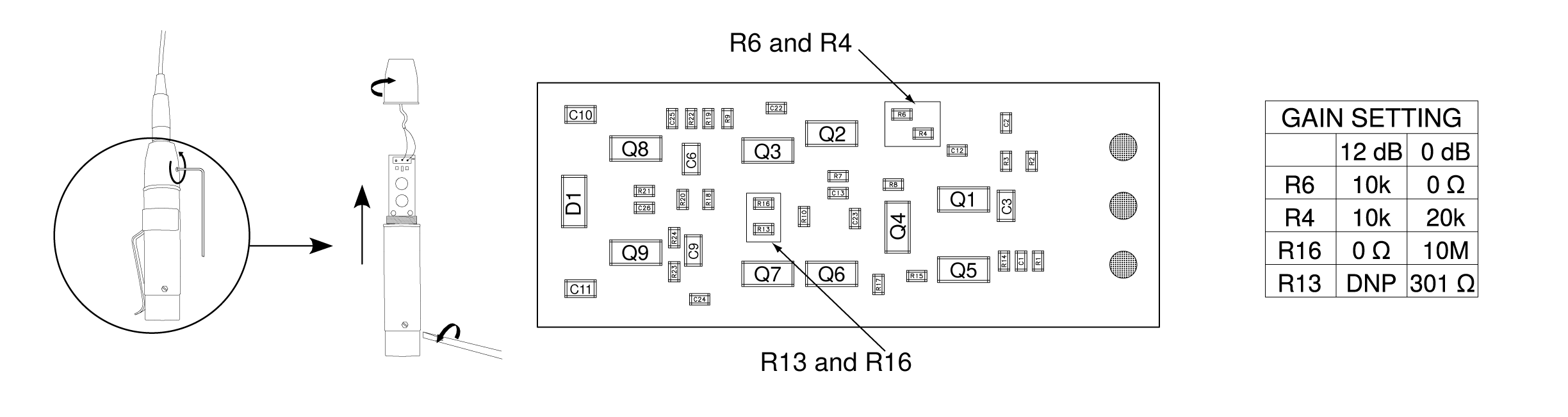 Shure Publications User Guides Mx400 Series R13 135 Switch Wiring Diagram Preamp Gain