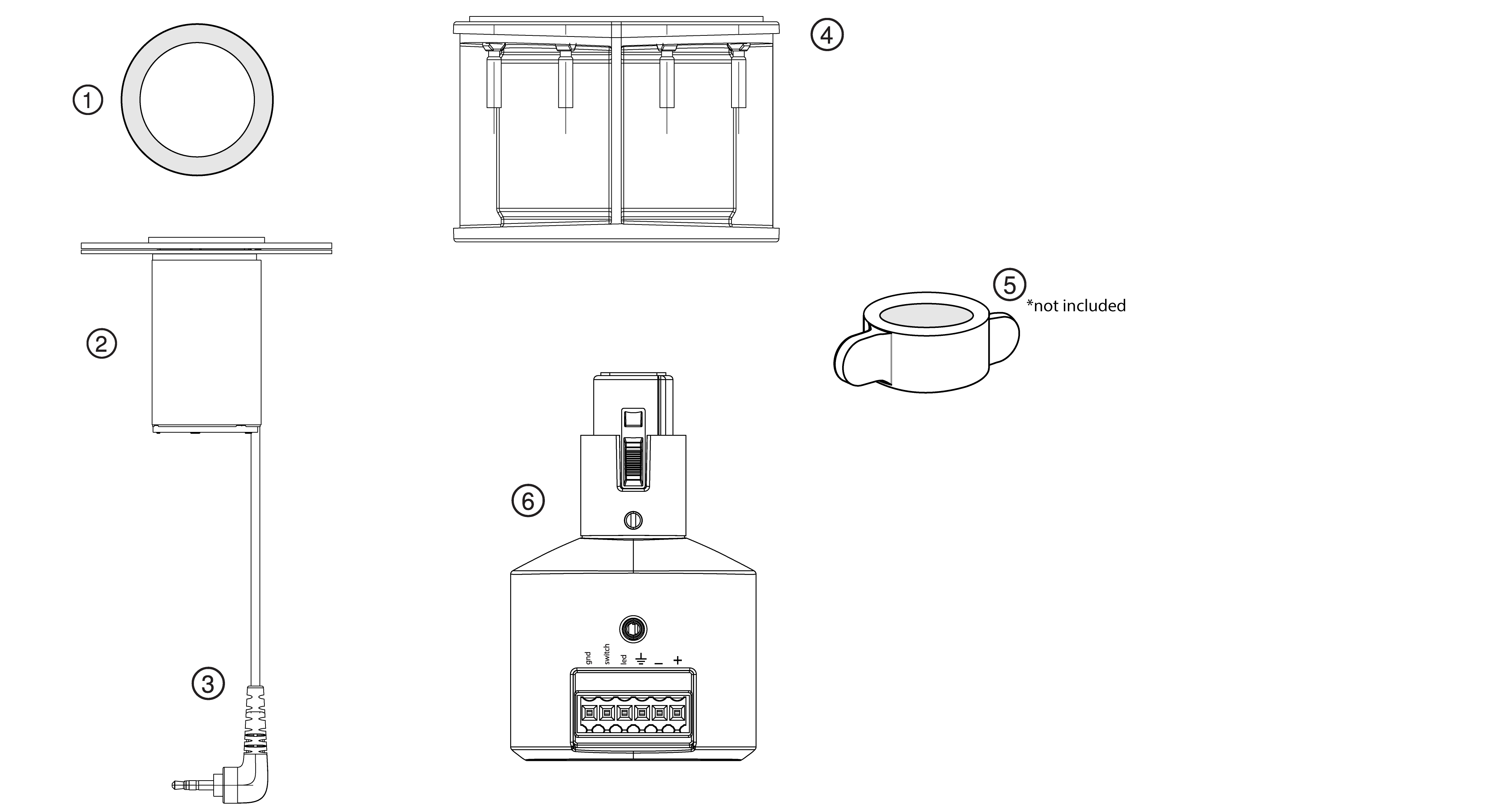 Illustration of A400MB components, with numbers identifying each.