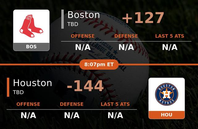 Boston Red Sox vs Houston Astros stats