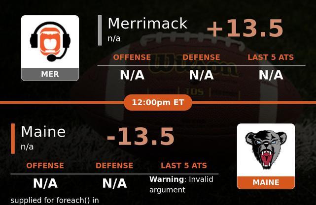 Merrimack vs Maine Black Bears stats