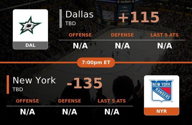 Dallas Stars vs New York Rangers stats