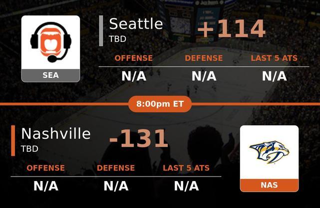 Seattle vs Nashville Predators stats