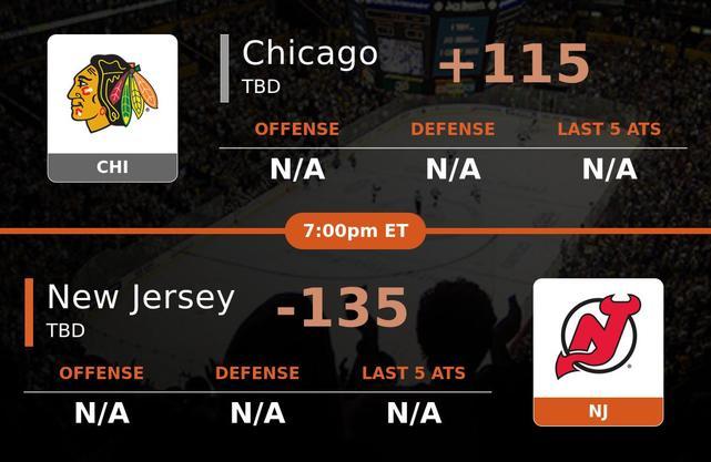 Chicago Blackhawks vs New Jersey Devils stats