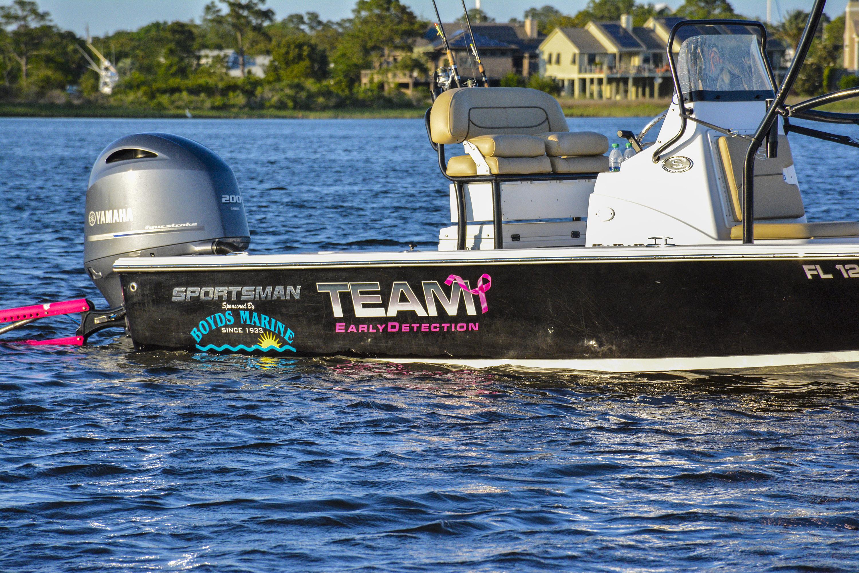 Sportsman Boats sponsors Captain Hallie Burnett of Team Early Detection