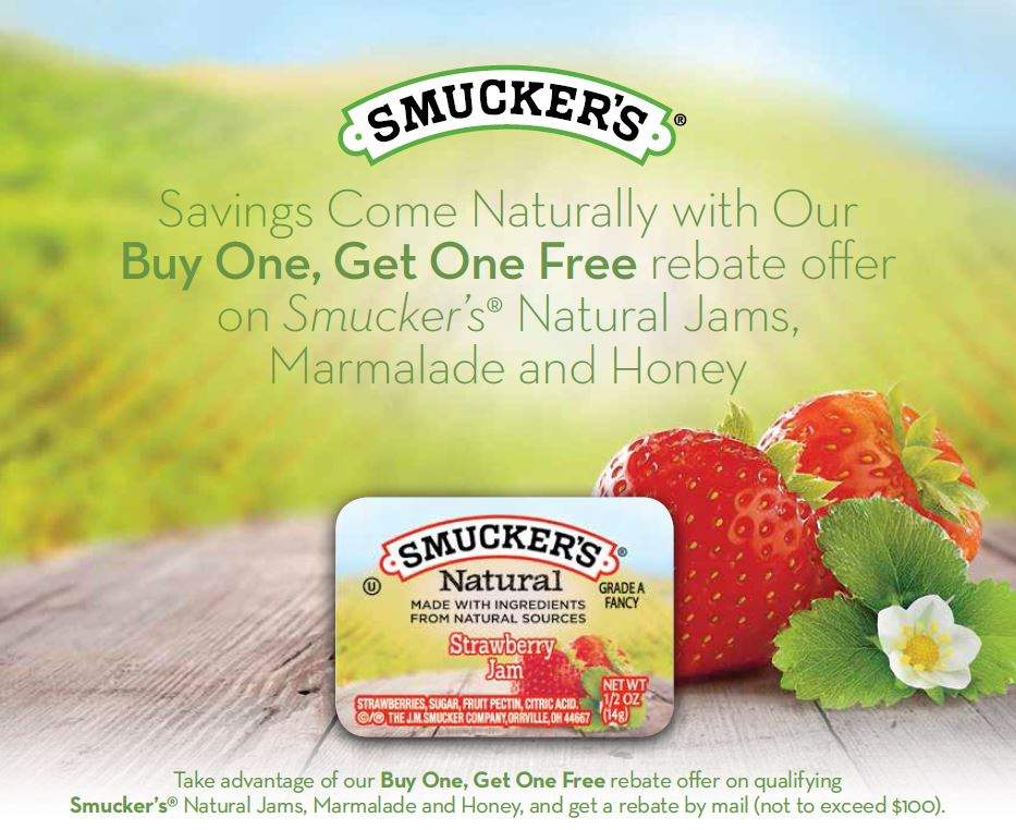 Smucker's Natural BOGO Rebate