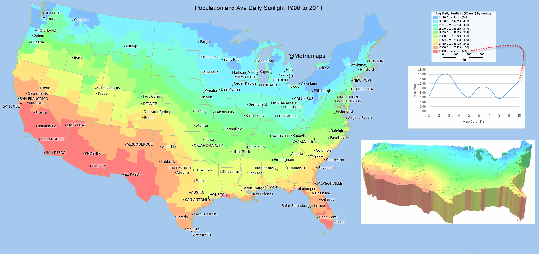 Solar Power Systems San Antonio - Us map number of days of sunshine