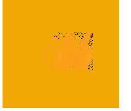 Ícone de aspas na cor amarela