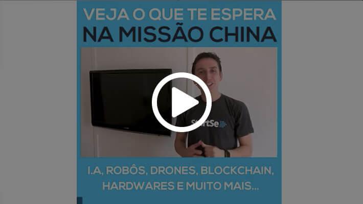 Print de um vídeo de Ricardo Geromel falando sobre a Missão China