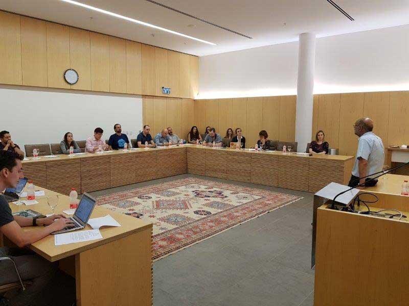 Reunião no Weizmann Institute of Science, sobre Biotecnologia