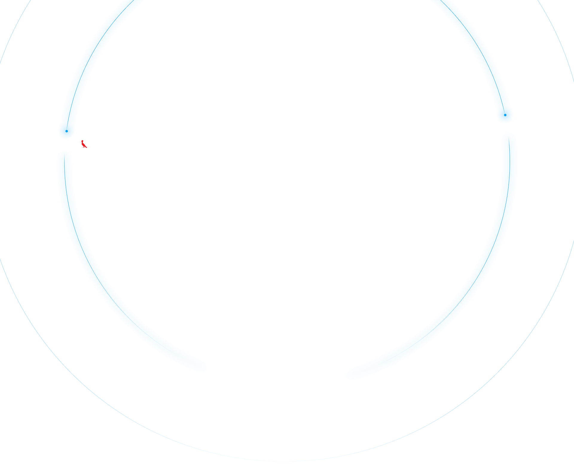 Círculos grandes na cor azul