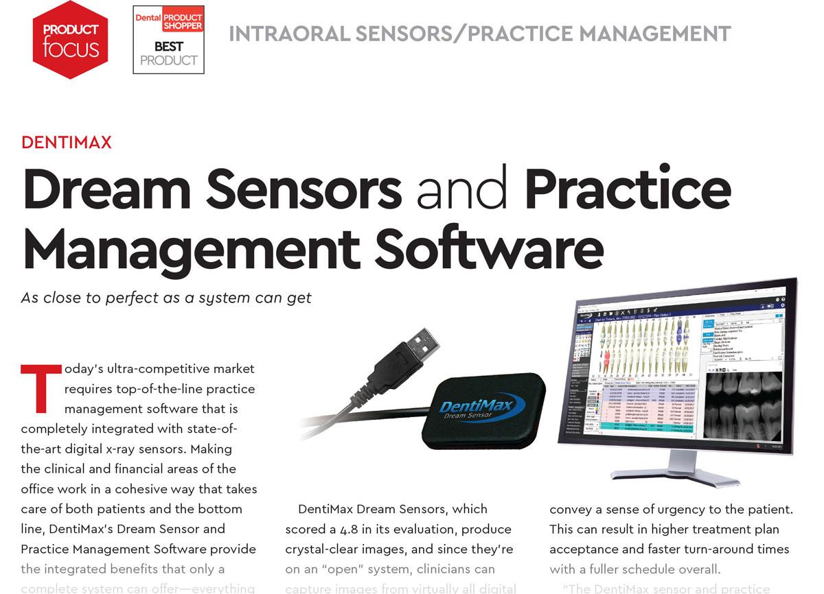 image of complete dental software and dental sensor system