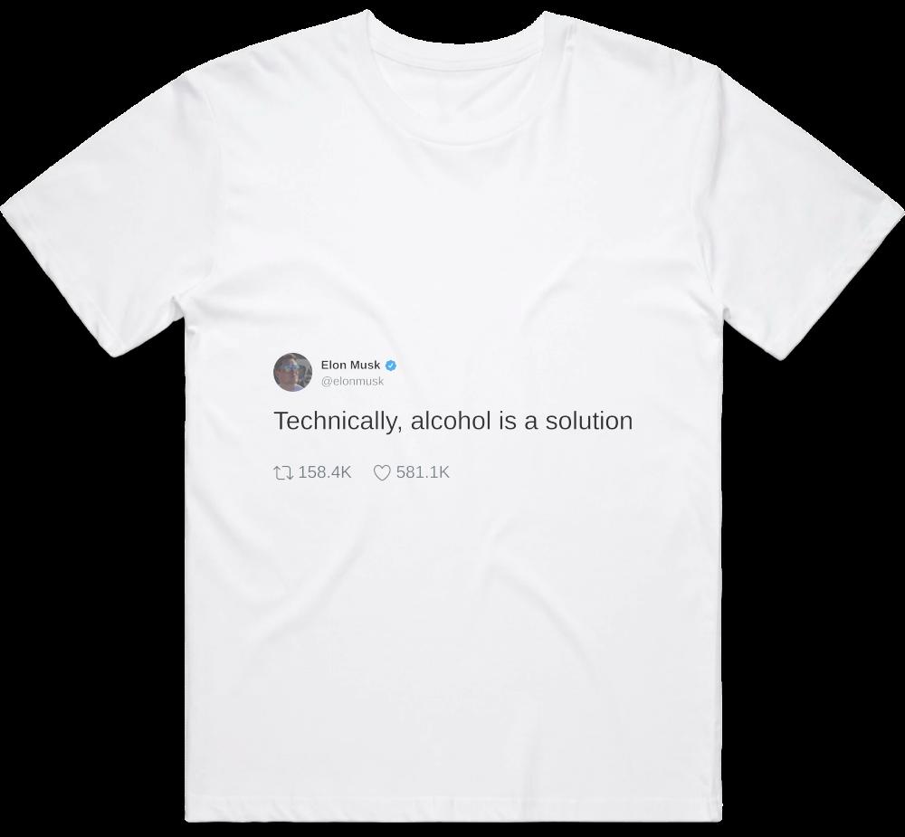 Elon Musk tweet's t-shirt preview