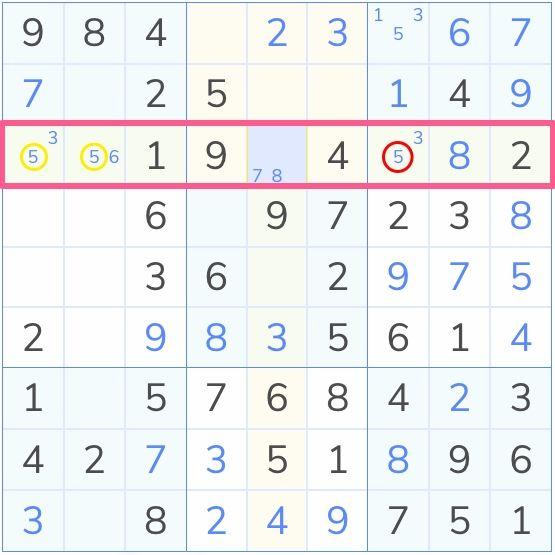 locked Candidates 1 sudoku example