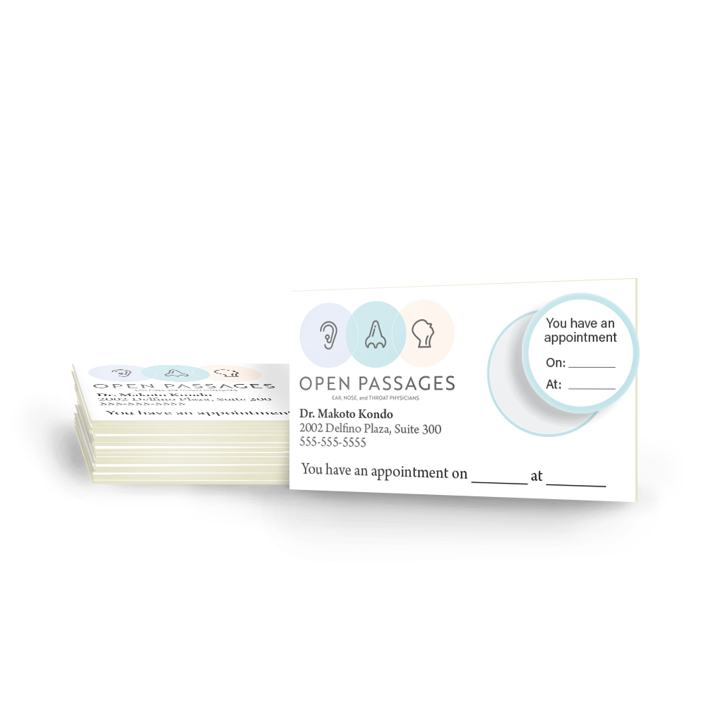 Example image for Appointment Cards