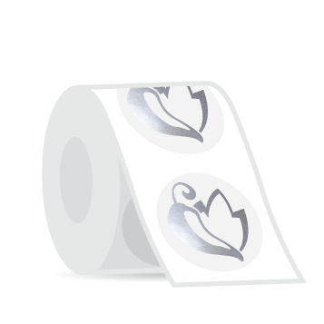 Example image for Foil Stamped Roll Labels