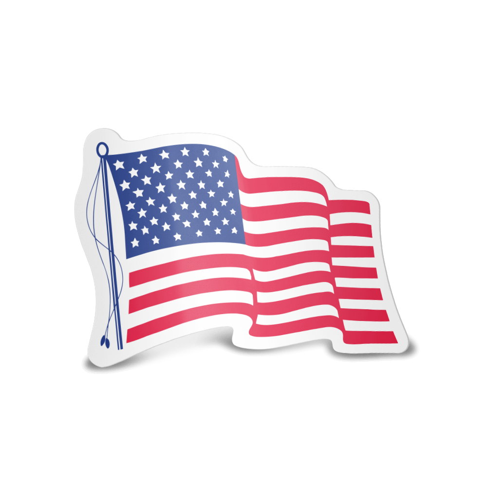 Example image for Patriotic Stock Flag Decals