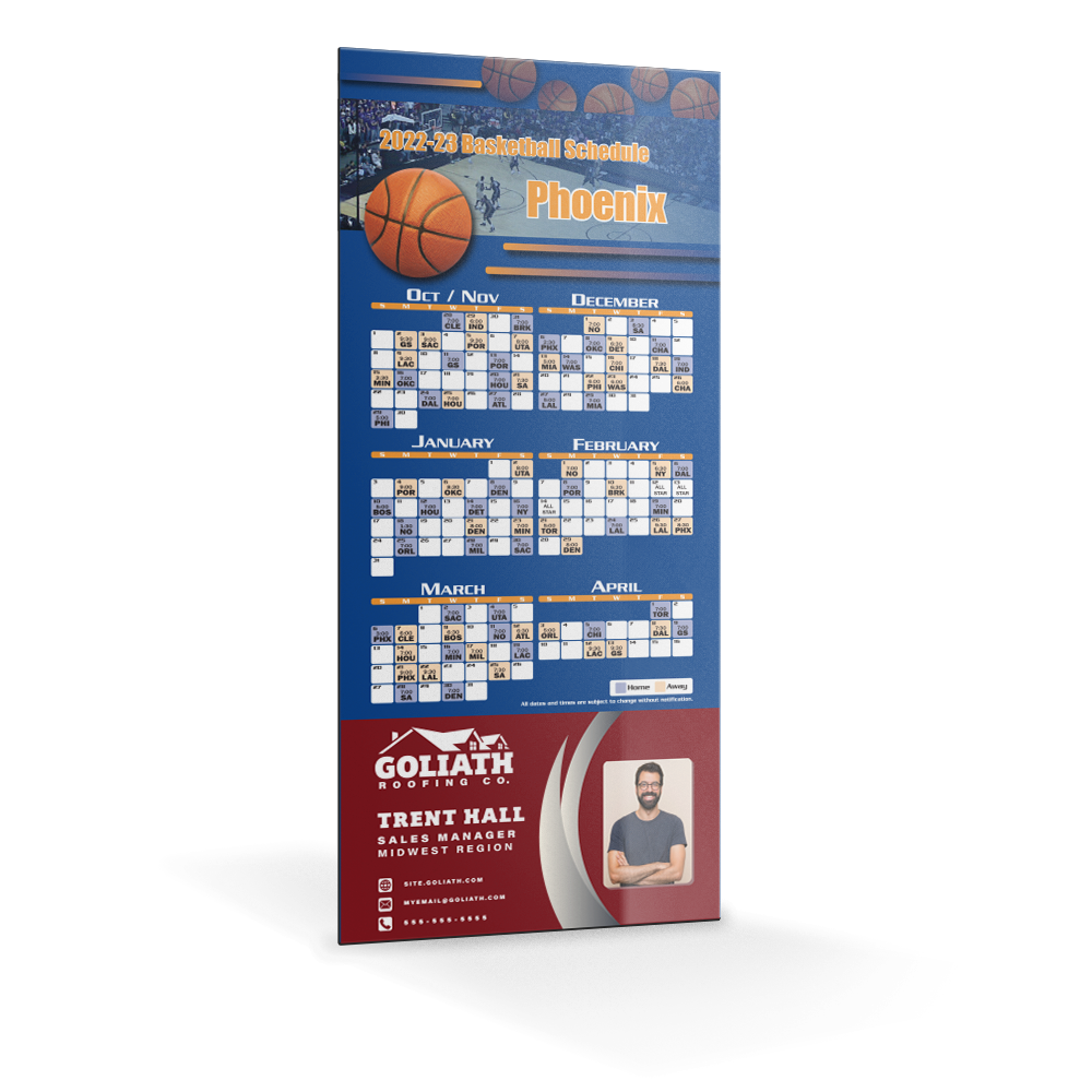 Example image for Professional Sports Schedule Magnets