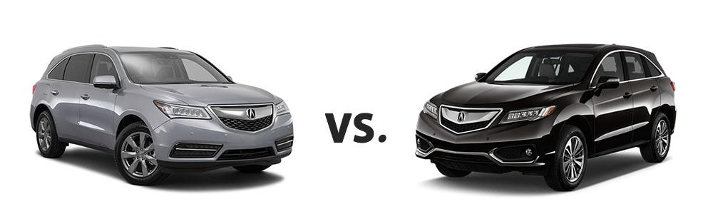 Used Acura MDX vs. Used Acura RDX