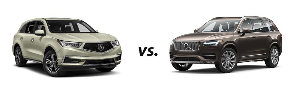 2018 Acura MDX vs. 2018 Volvo XC90