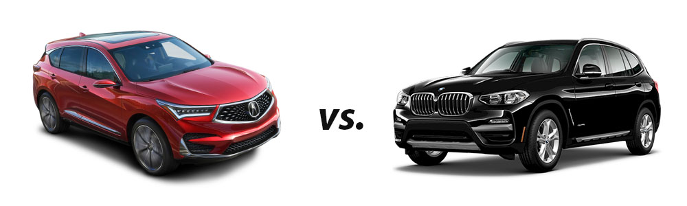 2019 Acura TLX vs. 2018 BMW X3