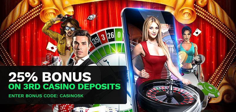 Casino 3rd Deposit Bonus