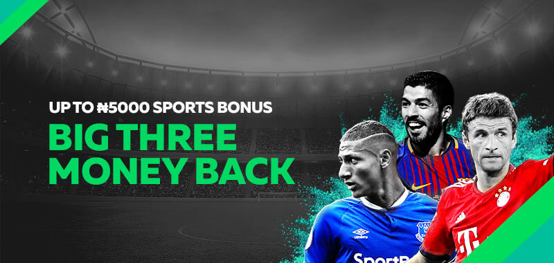 Big Three Moneyback Bonus