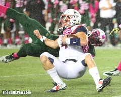 Harris gets a sack in the rain 2